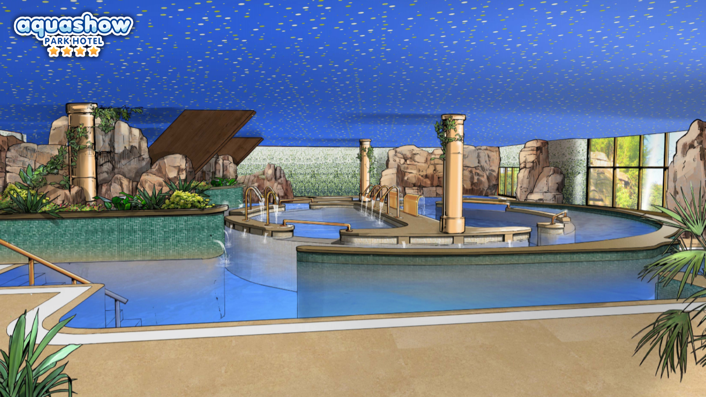 Aquashow Indoor Main Hidrotheray Pool and SPA for adults